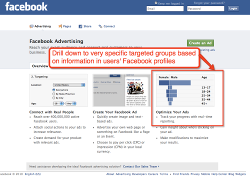 Image of Facebook Ads home page